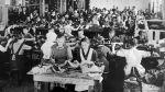 Výroba ve zlínské továrně - rok 1920