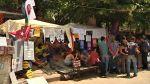 Stanový tábor v parku Gezi